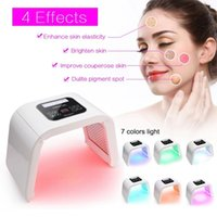 Wholesale light therapy tool resale online - 7 Color Light Photon LED Facial Mask Electric Face Skin Care Rejuvenation Therapy Anti aging Skin Tighten Tools