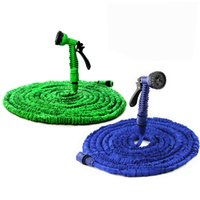 Wholesale expandable hose 50ft online - Magic Hoses FT Garden Hose Expandable tube Flexible Water Hose EU Hose Plastic Hoses Pipe With Spray Gun To Watering