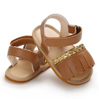 Wholesale baby girl cute sandals resale online - Toddler Summer Sandals Baby Sandals New Cute Newborn Infant Baby Girls Bowknot Princess Shoes PU Non slip Rubber Shoes