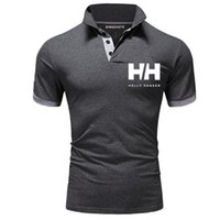farbe schnell großhandel-Mens Sommer Soild Farbe Polo Kurzarm Fashion Business Style Bekleidung High Street Tees Quick Dry