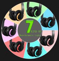 führte bunte bluetooth großhandel-Drahtlose Bluetooth Kopfhörer Bunte Kopfhörer Led Kopfhörer Kopfhörer Headset Surround Sound System Kopfhörer TWS Mikrofon