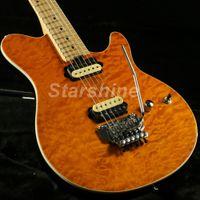 musicien de guitare achat en gros de-JEYb6043 Musicman Guitare électrique 5A placage d'érable matelassé Floyd Rose Bridge plus couleur peut choisir