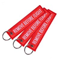 Wholesale lanyards for keychains resale online - 5 Colors REMOVE BEFORE FLIGHT Lanyard Keychain Motorcycle Scooters Keyrings Keychain Baggage Tag Key Ring for Women Men Jewelry Gift M215F