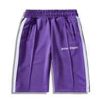 engels-shorts großhandel-Palm Angels Shorts Männer Frauen Marke Jogginghose Sommer Causul Joggers Gym Hose Hip Hop Harajuku Streetwear Trainingshose Mit Seitenstreifen Neu