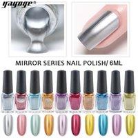 gel metálico para uñas al por mayor-YAYOGE 6ml esmalte de uñas metálico efecto espejo mágico inofensivo esmalte de gel de larga duración remojo laca esmalte para uñas