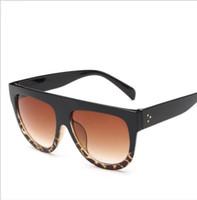 posa gafas al por mayor-Big Frame Leopard Sunglasses Women / Men Lentes Graduales Lady Gafas de sol Big Classic Retro Gafas de sol de unidad para exteriores LJJK1555