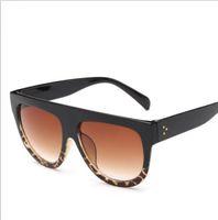 big framed glasses retro großhandel-Großen Rahmen Leopard Sonnenbrillen Frauen / Männer Allmähliche Linse Dame Sonnenbrille Große Klassische Retro Outdoor-Laufwerk Sonnenbrillen LJJK1555