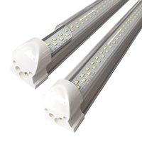 ledli tüp ışık kapakları toptan satış-Çift Sıra Temizle Kapak T8 LED Tüp Işıkları, Şeffaf Kapak, 1Ft 2Ft 3Ft 4Ft 5Ft 6Ft 8Ft, Entegre Çift Linner Bar Işıkları