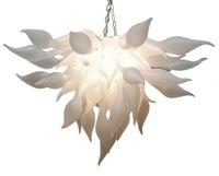fornecedores de lâmpadas led venda por atacado-Chegada nova Branco Murano Lustre de Luz China Fornecedor Barato Mão Lustre De Vidro Soprado para Art Decor Lâmpadas LED