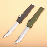 Wholesale tactical combat survival gear resale online - Special Offer Halo VI Tactical Knife quot Satin Single Action Hell Blade knife With Safety lock Survival EDC Gear knives