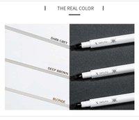 canetas de tatuagem venda por atacado-Pudaier lápis de sobrancelha maquiagem dos olhos 3 cores sobrancelha líquida gel pomade à prova d 'água 4 dicas de microblading caneta sobrancelha tatoo