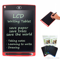 Wholesale memo tablet resale online - 8 inch LCD Writing Tablet Drawing Board Blackboard Handwriting Pads Gift for Adults Kids Paperless Notepad Tablets Memos With Upgraded Pen
