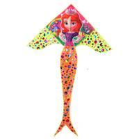 kinder drachen geben verschiffen frei großhandel-Die Drachen der Kinder im Freiensportspielwaren neue heiße stempelnde 1.8m helle Stoffmeerjungfraudrachen