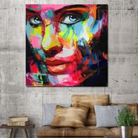 1 Pcs Canvas Painting Colorful Face Pictures Poster And Print Abstract Art Wall Pictures For Living Room No Framed
