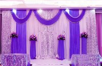 Wholesale draping backdrops for sale - 3m m wedding backdrop swag Party Curtain Celebration Stage Performance Background Drape With Beads Sequins Edge colors abailable