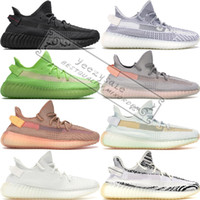 Wholesale brown summer shoe resale online - True Form Kanye West Black Reflective Static Gid Glow Clay Zebra Cream White Beluga Sesame Running Shoes Designer Sneakers US