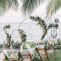 çerçeve rafları toptan satış-Düğün dekorasyon Arkaplan Arch Yuvarlak Ferforje Raf Dekoratif aksesuvar DIY Çelenk Parti Arkaplan Raf Çiçek Frame ile