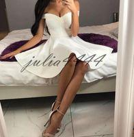 vestido de cóctel de encaje blanco modesto al por mayor-