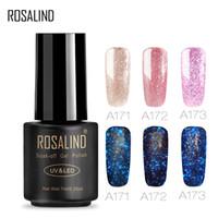 Wholesale yellow gold nails resale online - ROSALIND Gel S Luminous Rose Gold Gel Varnish Nail Art Semi permanent Soak off Nail Primer DIY UV LED Polish