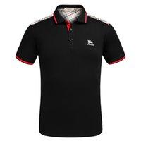 stilvolle polohemden für männer großhandel-Herren Designer Polo Shirts 2019 Sommer Kurzarm Polo Tees Revers T-Shirts Stilvolle Plaid Drucke Muster Sommer Explosion Slim Polo Shirts