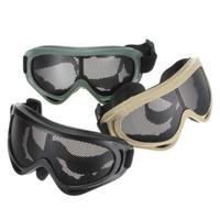verstellbarer brillenbügel großhandel-Schlagfeste X400 Brille Sicherheit Anti Explosion Metal Mesh Brille Mit Verstellbaren Riemen Männer Frauen Äußere Schutzbrillen 16sc BB