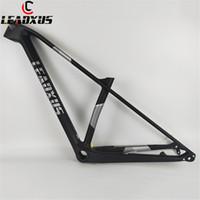 carbon-fahrräder großhandel-LEADXUS CX300 29er T800 + T1000 Carbon MTB Rahmen Schnellspanner / Steckachsenwechsel 29 Zoll Mountainbike Carbon Rahmen