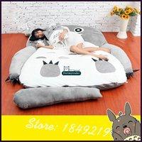 Wholesale anime mattress for sale - Dorimytrader Hot Fashion Anime Totoro Sleeping Bag Big Plush Soft Carpet Mattress Bed Sofa with Cotton Kids Present DY61067
