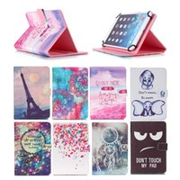 Wholesale china inch tablet 4g online - Cartoon Printed Universal inch Tablet Case for HP Touch Pad G Cases kickstand PU Leather Flip Cover Case