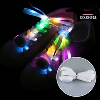 Wholesale lighted shoelaces resale online - LED Light Laces Flashing Laces Luminous Nylon Light Shoelaces Spot Waterproof Light Glowing Night Sports Shoe