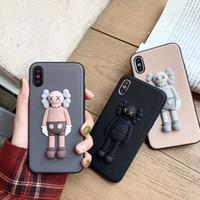 lindos casos de pareja para iphone al por mayor-Nuevo 3D Solid Cute X Kaws Toy Phone Case para iPhone X XS Max XR 6 6S 7 8 Plus Cartoon Soft Silicone Couple Phone Cover Capa