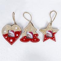 imagens estrelas venda por atacado-Picture Frame dos desenhos animados Woodiness Estrela Árvore do coração em forma Photo Frames Fit Árvores de Natal Detalhes no ornamento de suspensão 4 5XB E1