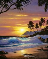 Wholesale tropical art prints for sale - Group buy Tropical Shores by Anthony Casay Handpainted HD Print Wall Art Oil Painting On Canvas Home Decor In Living Room Sc200