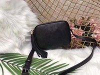 peş peşe el çantaları modası toptan satış-Çanta tasarımcısı yüksek kaliteli Lüks Çanta soho küçük deri disko çanta moda püskül omuz çapraz vücut çanta