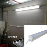 Wholesale light fluorescent ceiling fixture for sale - Led Tube Light Waterproof Tri proof Light Led Linear Tube ceiling Lamp fixture ft W IP65 underground parking kitchen ft W ft W