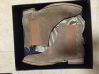 Wholesale united states shoes for sale - Group buy Hot Europe and United States new list Beige elastic nubuck leather boots casual personality genuine leather feet shoes
