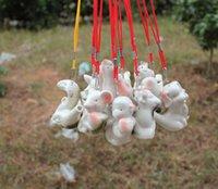 ocarina chinês venda por atacado-Ocarina água do zodíaco chinês crianças presente design criativo apito de cerâmica mini qntique estilo assobiando muitos estilos sn3459