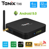 android hdmi bluetooth großhandel-10 stücke Tanix TX6 TV Box Android 9.0 4 GB 32 GB DDR3 Allwinner H6 EMMC 2,4G5G WiFi Bluetooth 4,2 TV Box Android