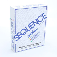 Wholesale fun cards resale online - Sequence Card Game Challenge Strategy Board Games Funny Entertainment Board Game Friend Family Party Fun Playing Desktop Cards SH190907