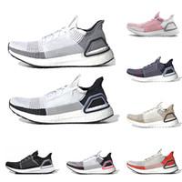 bulut aydınlatması toptan satış-Ultra boost 19 erkekler kadınlar koşu ayakkabı en kaliteli Açık gri Çekirdek Bulut beyaz Oreo erkek eğitmenler ultraboost nefes spor sneakers