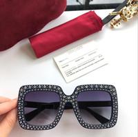 Wholesale sunglasses for small framed women for sale - Group buy New designer sunglasses g0148 mosaic diamonds design fashion sunglasses for women large square frame small legs sun glasses