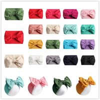 ingrosso farfalle per capelli-Ins Baby Bows Fasce Bowknot Hair Wraps Butterfly Knot Multicolor Hairbows Hoops per Neonati Toddlers Girls Party Decora 7inch A42202