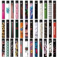 kits de adesivos venda por atacado-Etiqueta Para Juul OEM Wraps Para Juul Kits 50 padrões Personalizados Capa de Papel Etiqueta E-Cig Pele Com Logotipo Para Juul Kits Cartuchos Pods