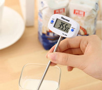 dijital anlık okuma termometreleri toptan satış-200 adet TA288 Pin Şekli Dijital Termometre Anında Oku Cep Yağı Süt Kahve Su Çikolata Fırın Termometre