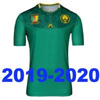 melhor qualidade tailândia futebol jersey venda por atacado-Novos camarões 2019 2020 camisa de futebol verde camisa de futebol em casa maillots de pé melhor qualidade tailândia camisetas de fútbol camisa longe