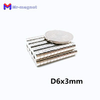 Wholesale neodymium disc magnets 6mm resale online - 2019 imanes x3 Neodymium Magnet Disc Permanent N35 NdFeB Small Round Super Powerful Strong Magnetic Magnets mm x mm