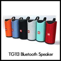 спортивный динамик оптовых-Портативные TG113 Громкоговоритель Bluetooth беспроводные колонки Сабвуферы Handsfree вызова Stereo Bass Поддержка TF Card AUX Line In Hi-Fi Громкий