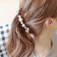 moda hair оптовых-BISI GORO элегантная бижутерия для женщин заколка банан заколки для волос для девочек конский хвост заколки moda mujer 2019 головной убор в корейском стиле