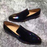 mocasines de vestir de cuero para hombres al por mayor-Gentleman Red Bottom Dandelion Men Mocasín zapatos de la mejor calidad Oxford negro mocasines de cuero vestido de boda de fiesta de lujo con caja c1
