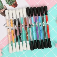 Wholesale spinning pens for sale - Group buy Smooth Surface Ant slip Anti drop Spinning Rotation Pen Gel Pen with Pen Head for Fluent Writing zdl0414