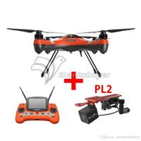 dronlar w kameralar toptan satış-Swellpro Splash İHA Drone + PL2 Su Geçirmez Yük Yükü w / HD FPV Kamera